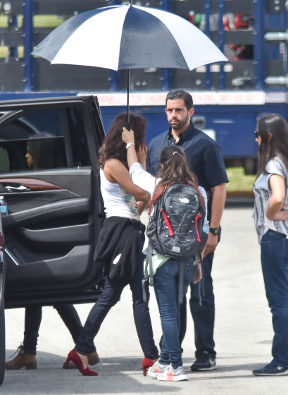 Exclusive... 51984434 Actress Priyanka Chopra is spotted heading to the set of 'Baywatch' in Boca Raton, Florida on March 1, 2016. FameFlynet, Inc - Beverly Hills, CA, USA - +1 (310) 505-9876