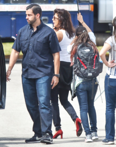 Exclusive... 51984437 Actress Priyanka Chopra is spotted heading to the set of 'Baywatch' in Boca Raton, Florida on March 1, 2016. FameFlynet, Inc - Beverly Hills, CA, USA - +1 (310) 505-9876