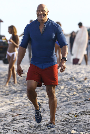 51984755 Stars are spotted on the set of 'Baywatch' in Boca Raton, Florida on March 1st, 2016 Stars are spotted on the set of 'Baywatch' in Boca Raton, Florida on March 1st, 2016 Pictured: Dwayne Johnson FameFlynet, Inc - Beverly Hills, CA, USA - +1 (310) 505-9876