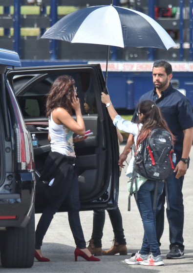 Exclusive... 51984431 Actress Priyanka Chopra is spotted heading to the set of 'Baywatch' in Boca Raton, Florida on March 1, 2016. FameFlynet, Inc - Beverly Hills, CA, USA - +1 (310) 505-9876
